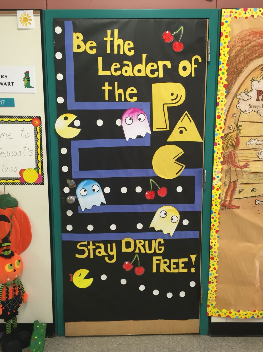 Classroom Door Decoration Ideas For Red Ribbon Week ~ Red ribbon week classroom door decorations pac man