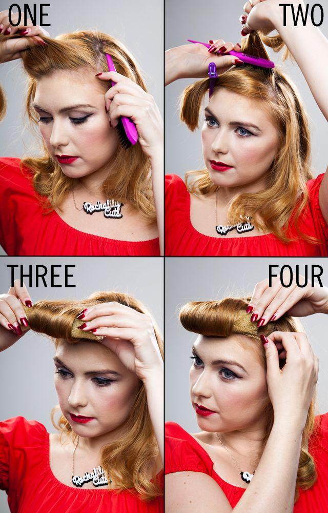 Hair How To A Big Fake Fringe Pinup Hair Tutorial Rockabilly Hair Tutorials Rockabilly Hair