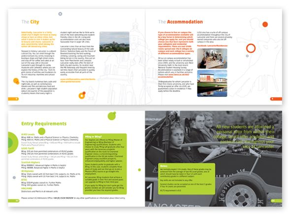 Lancaster University Engineering Department Prospectus Design