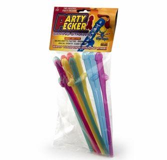 Penis Party Straws - Rainbow - 10 Straws