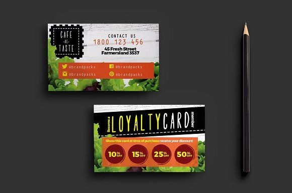 Salad Restaurant Loyalty Card Templates Salad Restaurant Loyalty Card This Salad Salad Restaurants Loyalty Card Template Photography Business Cards Template