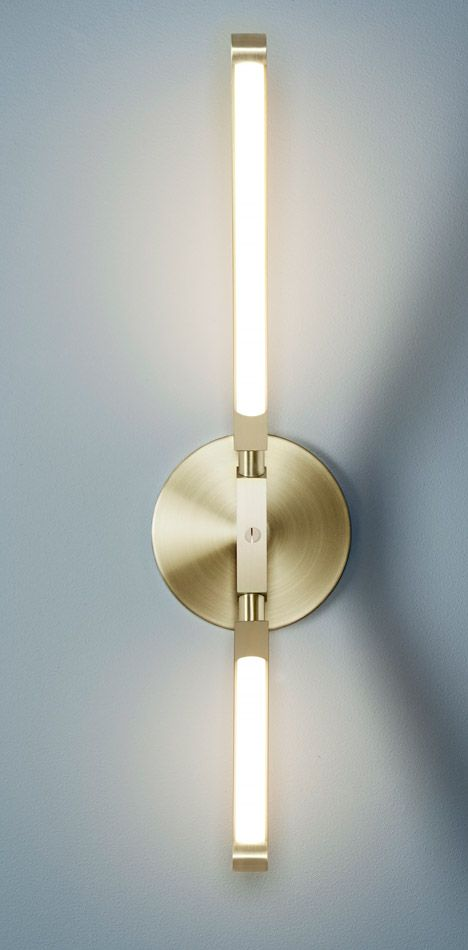 Modern wall light fixture Aluminium Wall Sconce Brass Light Light Fixture Interior Design Wall Sconce Contemporary Decor Stardust Modern Design Sconce Brass Light Light Fixture Interior Design Wall