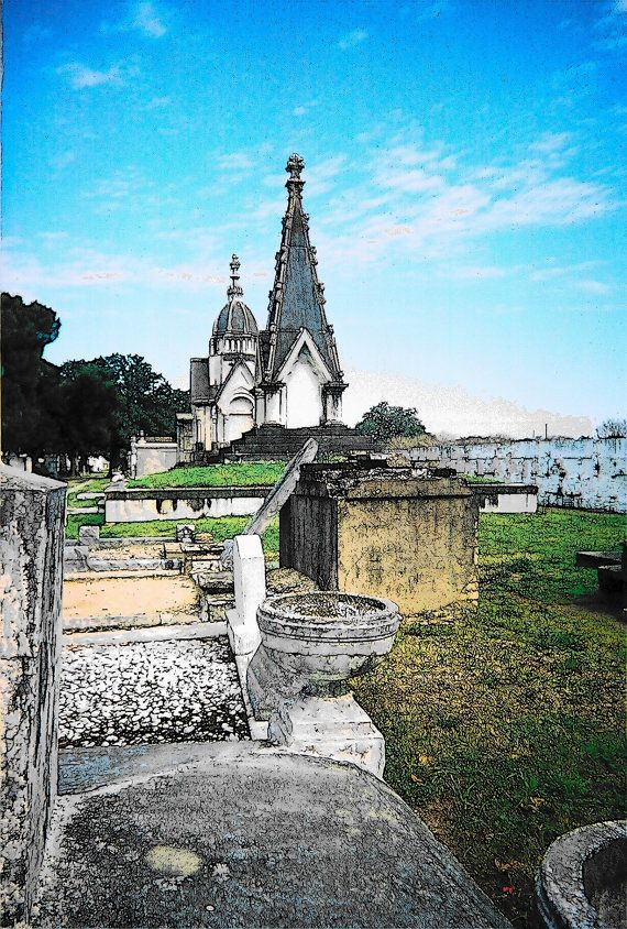 New Orleans Cypress Cemetery 4x6 Art Print Ready To Frame With 5x7 Mat Beautiful Places New Orleans Cemetery