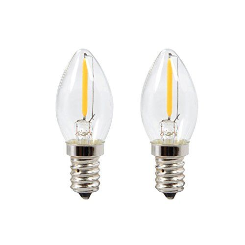 Kingstar Led Filament C7 06w Night Light Bulb Equivalent To 10w Incandescent Warm White 2700k 75 Lumens E12 Candelabra Base Night Light Bulbs Bulb Night Light