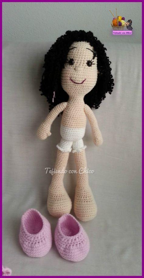 E n varias ocasiones me habéis pedido el patrón en español para tejer esta muñeca.   Como ya sabéis, es un patrón  que saqué del b...