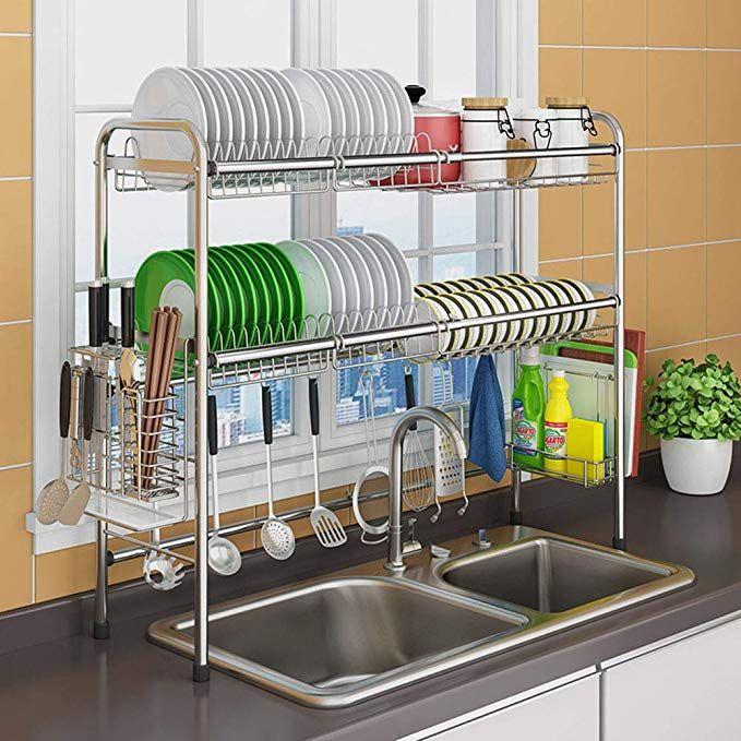 Amazon Com Xue Shelf Dish Drainer Rack Holder Retractable 304