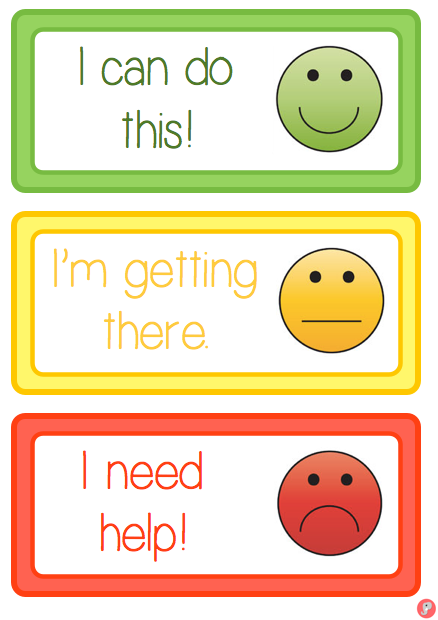 Smiley Face Self Assessment Labels Cards – Self Assessment
