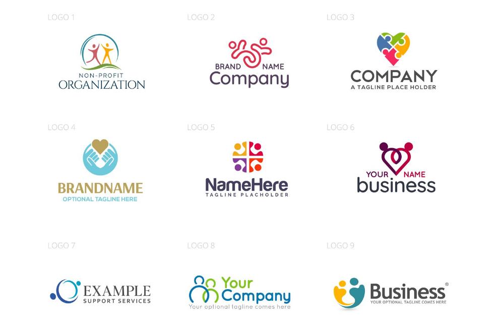 Community Logo Design Set 298485 Logos Design Bundles Community Logo Logo Design Set Charity Logo Design