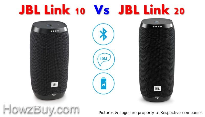 JBL LINK 10 vs JBL LINK 20 Voice Activated Portable Speaker