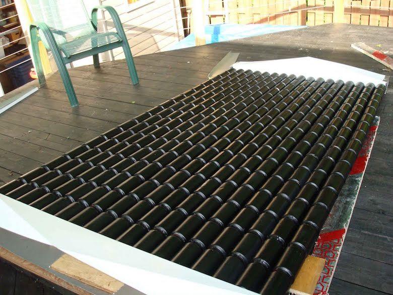 DIY  comment fabriquer un chauffage solaire avec des canettes - Panneau Solaire Chauffage Maison
