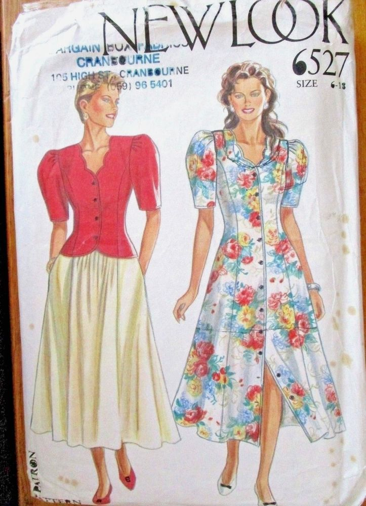 New Look Sewing Pattern no. 6527 Ladies dress skirt & top size 6-18 ...