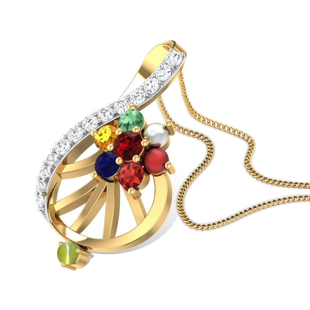 Aglaia navratna pendant gemstone pendants pinterest pendants