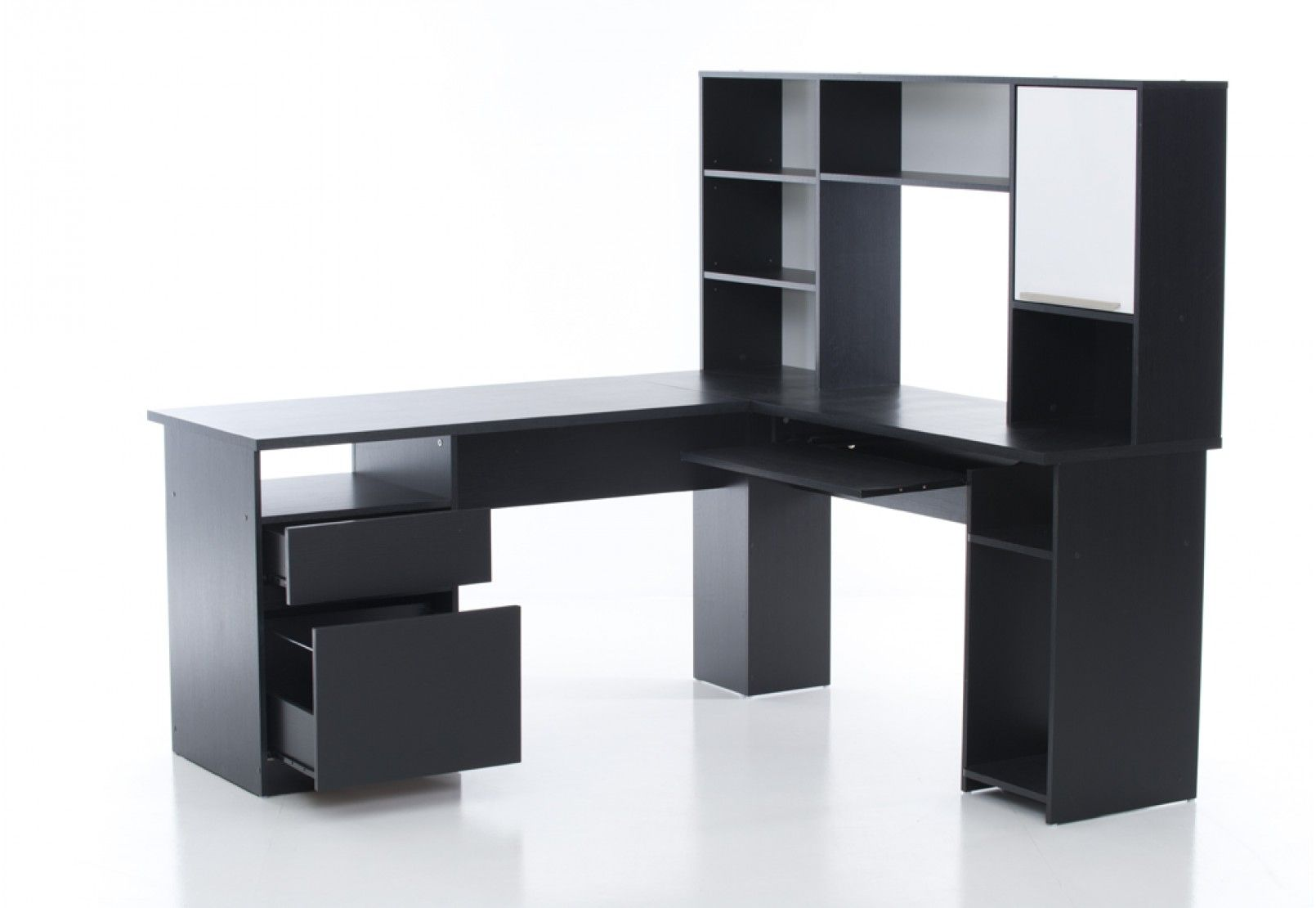 Echo Corner Desk with Hutch | Super A-Mart | desks | Pinterest
