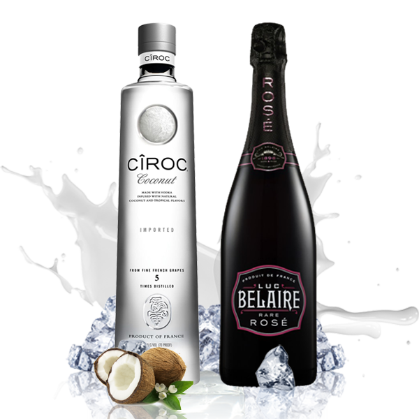 Luxury Party (Luc Belaire Rose + Ciroc Coconut Vodka