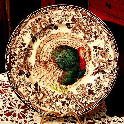 CLARICE-CLIFF-TURKEY-Transferware & CLARICE CLIFF ROYAL STAFFORDSHIRE TURKEY PLATE England Transferware ...