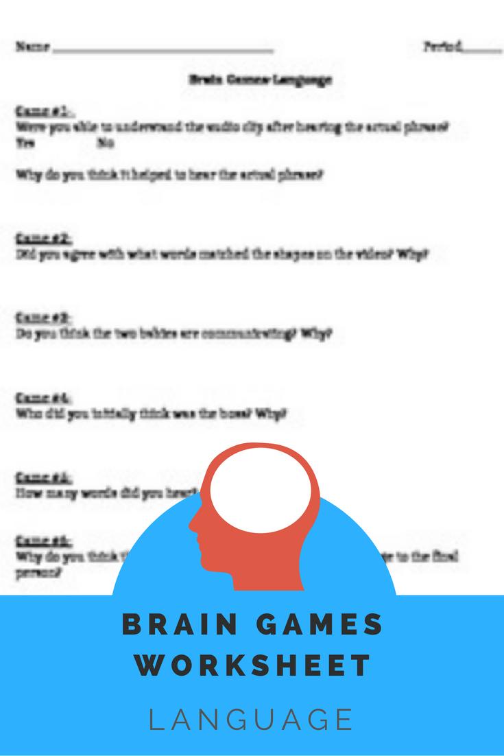 Brain Games Worksheet-Language Episode | Brain games ...