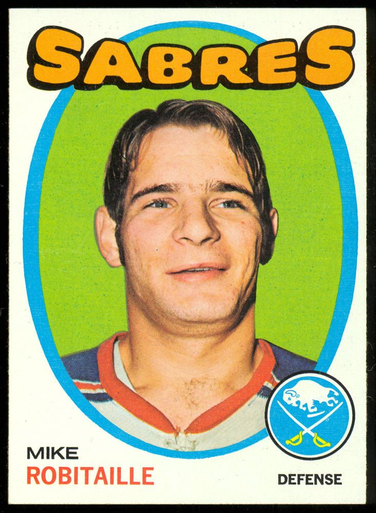 1971 72 topps hockey 8 mike robitaille nm buffalo sabres