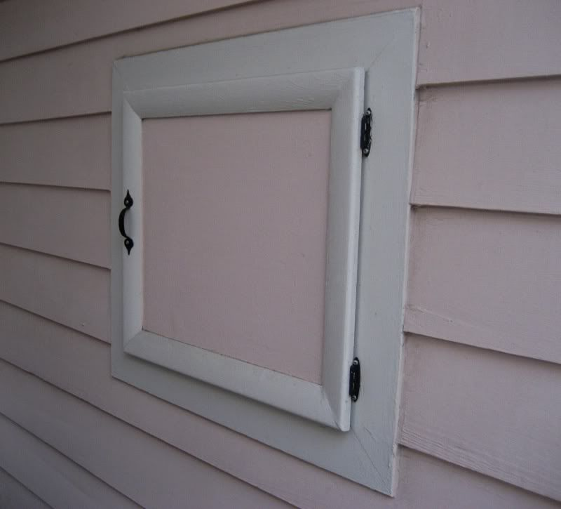 On The Back Porch Is This Old Milk Door Which Provided A Place For The Milkman S Deliveries Pink Houses House Old Houses