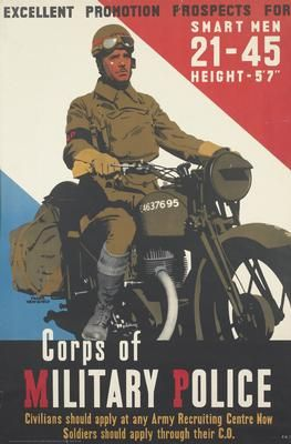 WW2 US Army Corps of Military Police 1942 Poster