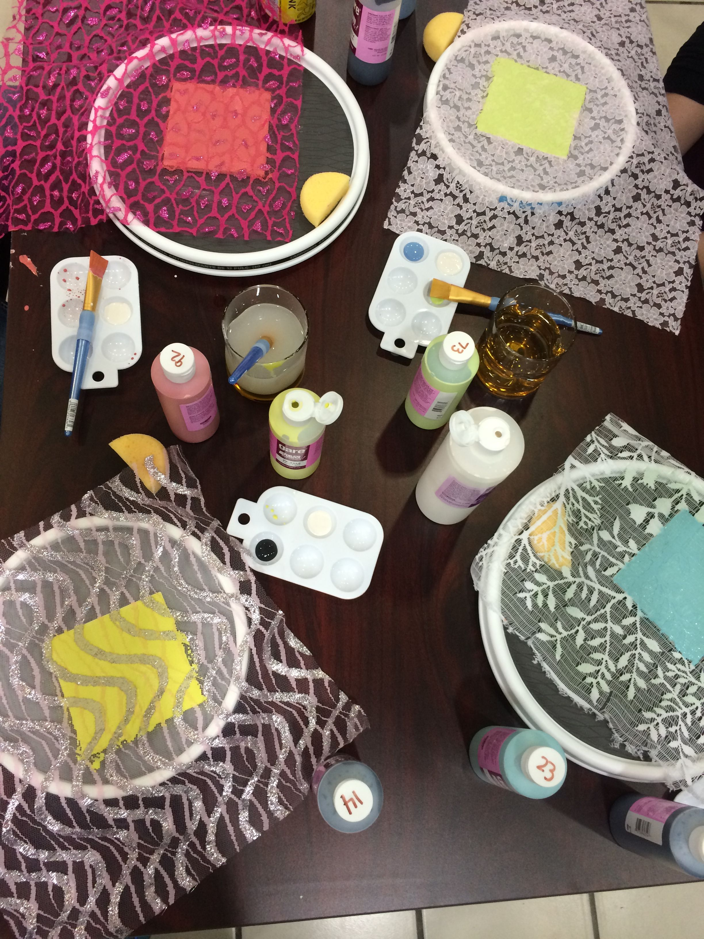 First time lace in Clackamas Town Center #RoseCityCeramics
