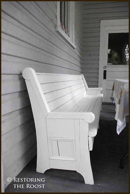 Cool Need One For The Front Porch Old Church Pew From Restoring Evergreenethics Interior Chair Design Evergreenethicsorg