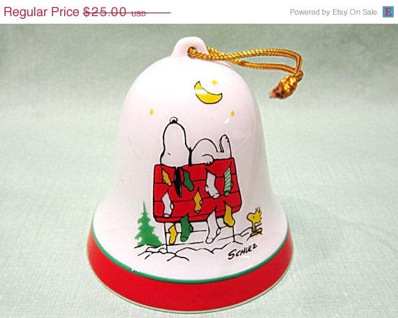 Christmas In July Snoopy Christmas Bell Ornament I By Cobayley 21 25