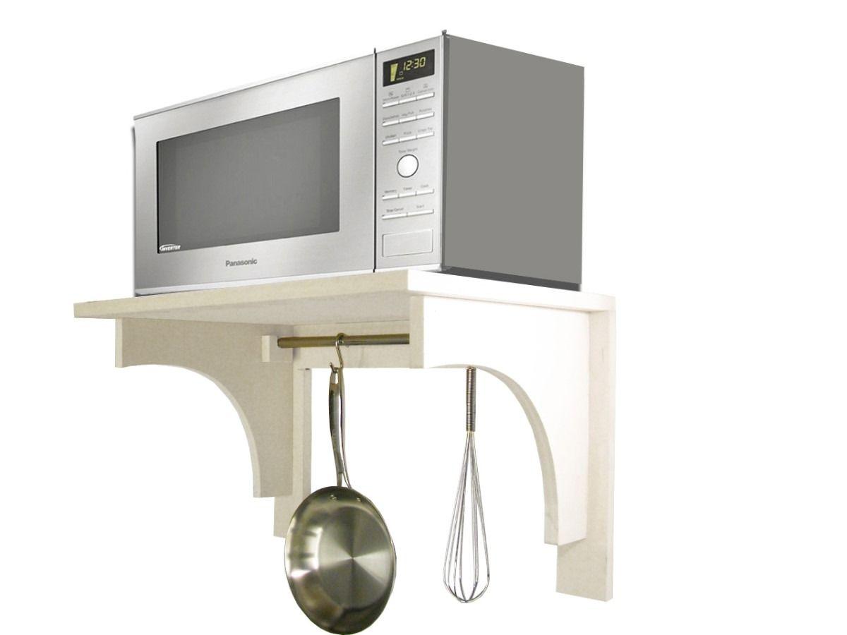 Alacena Estante Para Microondas Con Barral Sin Pintar D Nq Np 4198 Mla2615143627 042012 F J Muebles Aereos De Cocina Muebles Microondas Estante Para Microondas
