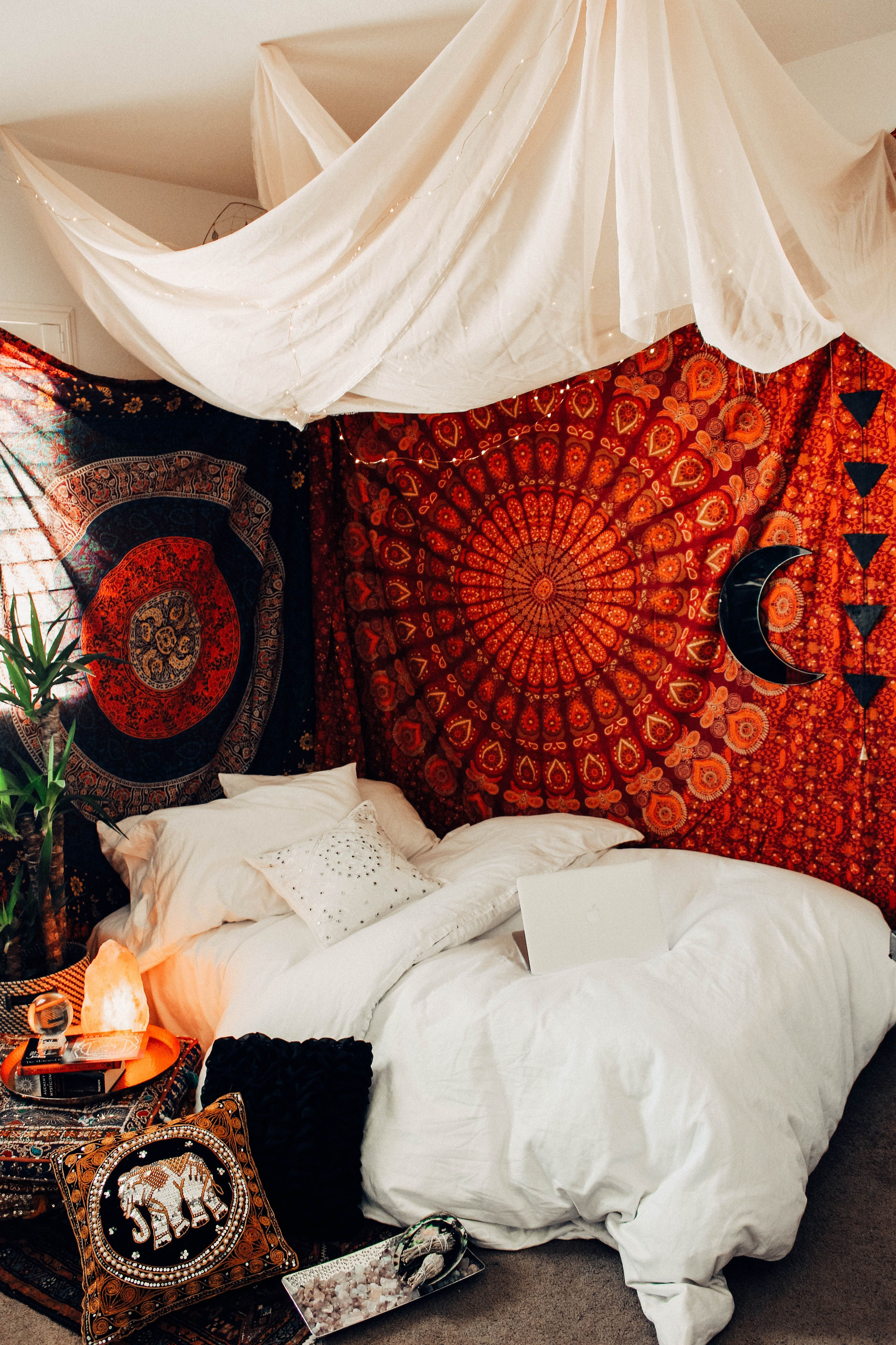 30 Beautiful Bohemian Bedroom Decor Ideas For Your Home is part of Bohemian bedroom decor - Bohemian, can be interpreted as a free life like an artist  The bohemian style here refers to the rebel style, quirky, artsy, rather vintage, rustic, and has an ethnic touch  Here I want to discuss the bohemian style applied to the bedroom design  To design this style there is no    Read More