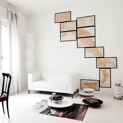 Italy One Frame at a Time - Neat map idea | Living Spaces ...