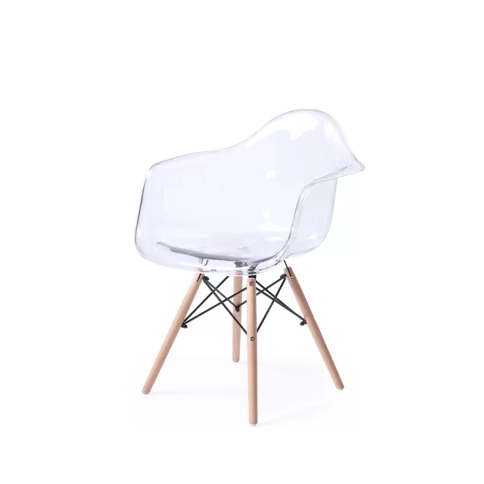Revis Mid Century Transparent Dining Chair Reviews Allmodern
