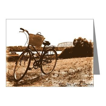@FlawnOcho is Celebrating #BikeMonth Biking Along the Ohio - Note Cards (Pk of 10)