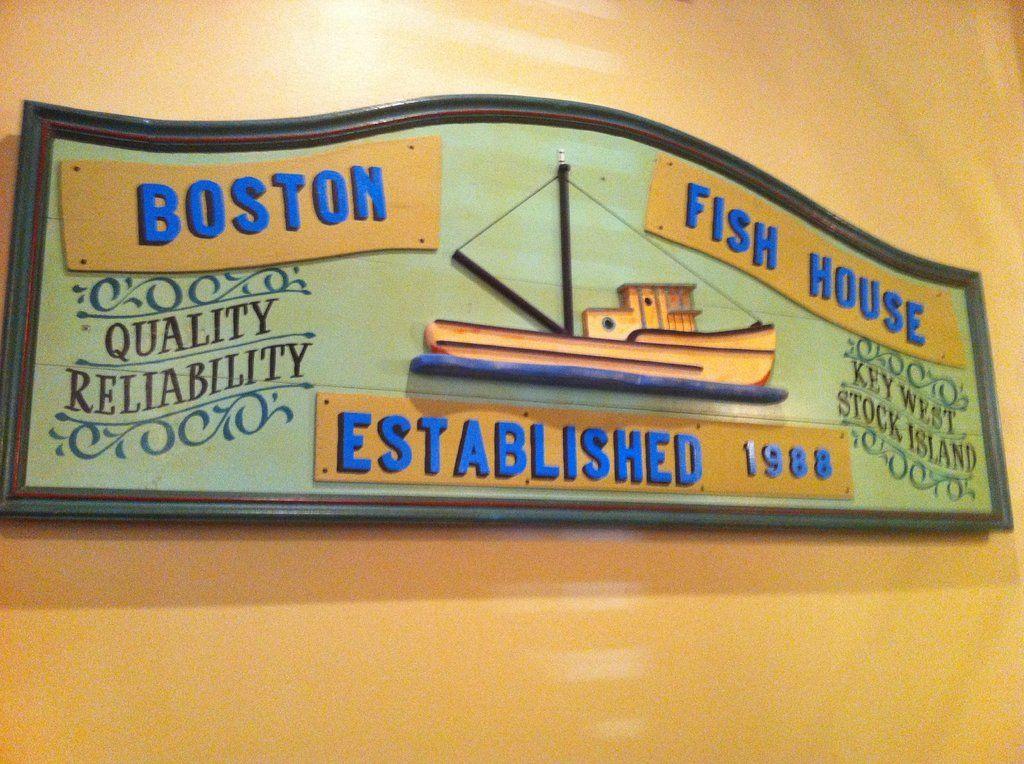 Boston's Fish House, Winter Park Menu, Prices