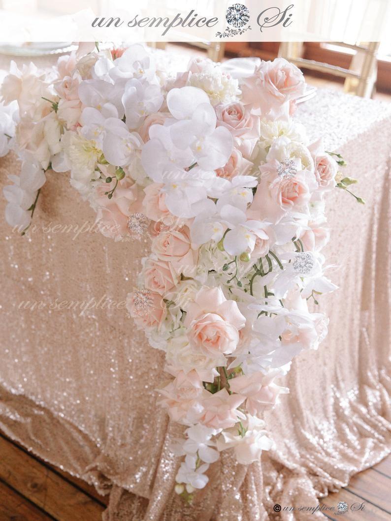 Image 2 Flower Garland Wedding Flower Garlands Blush Wedding Flowers