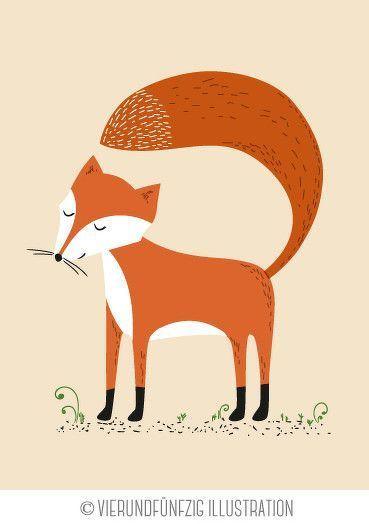 Tiere des Waldes: Fuchs