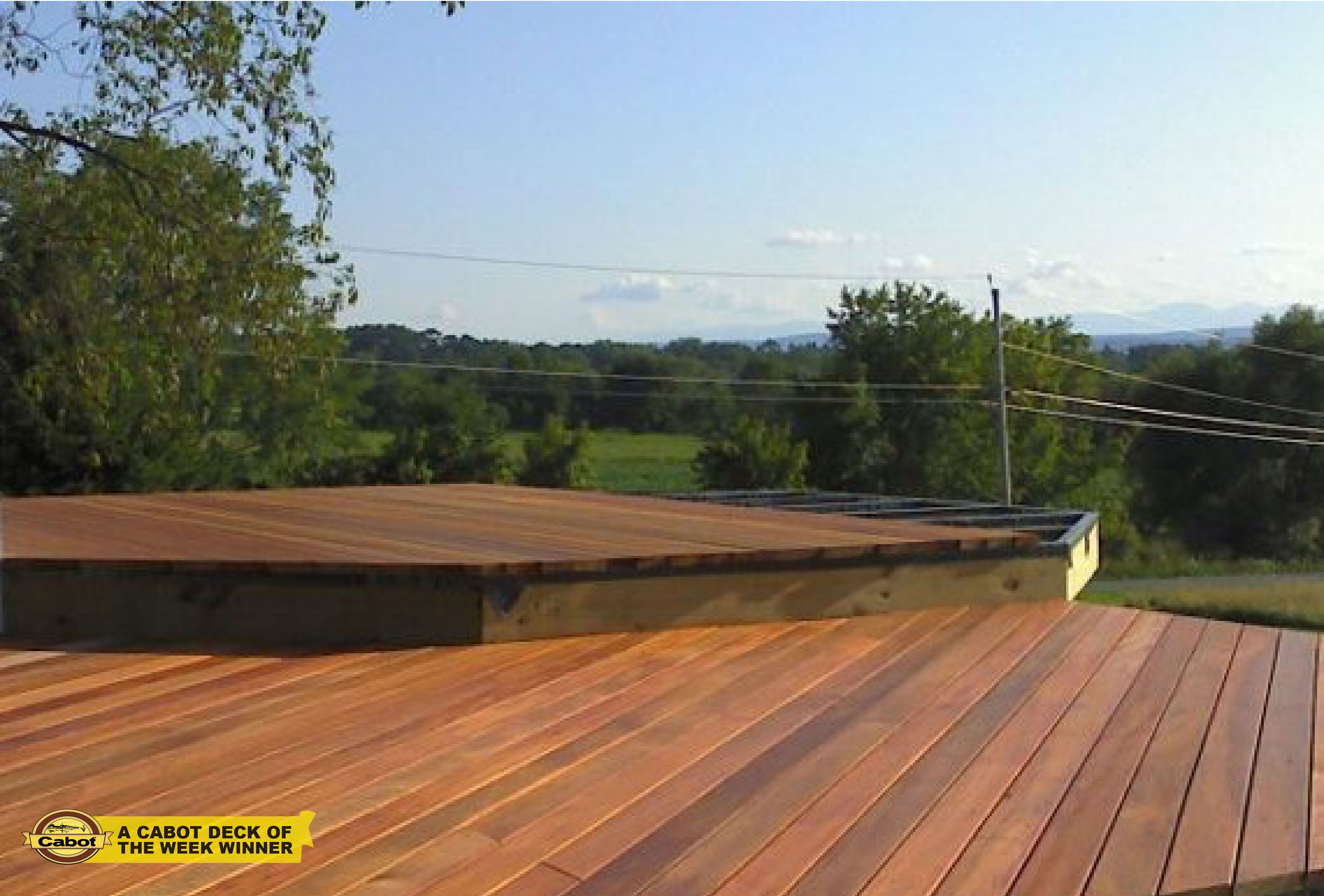 Shares A Mid Project Photo From His Castleton On Hudson, NY Wood Deck,  Protected And Beautified By Cabot Woodcareu0027s Australian Timber Oil