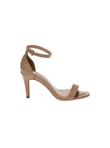 01e40897a Sandália Nude de Salto Fino - Visite Riachuelo.com.br | shoes ...