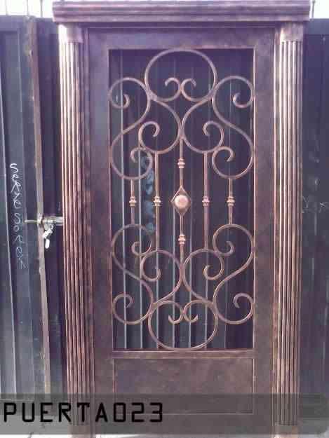 Puertas de herreria artistica puebla otros servicios for Puerta herreria moderna