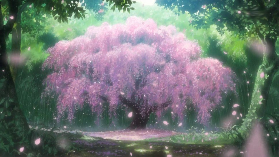 Anime Cherry Blossom Tree