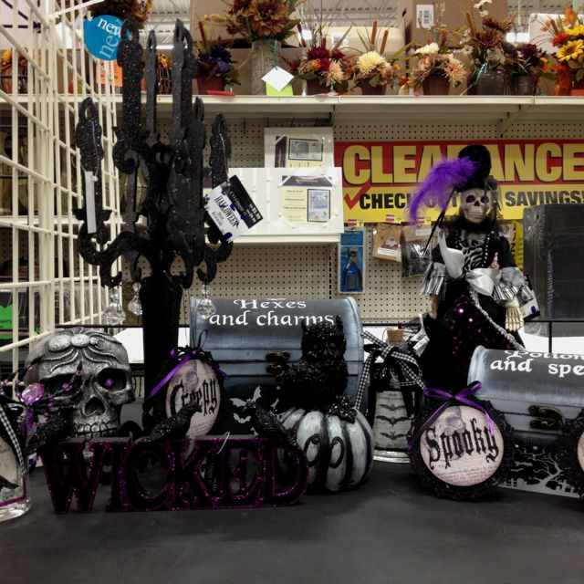 Halloween Made this set up while in Michaels craft store Holiday - halloween michaels