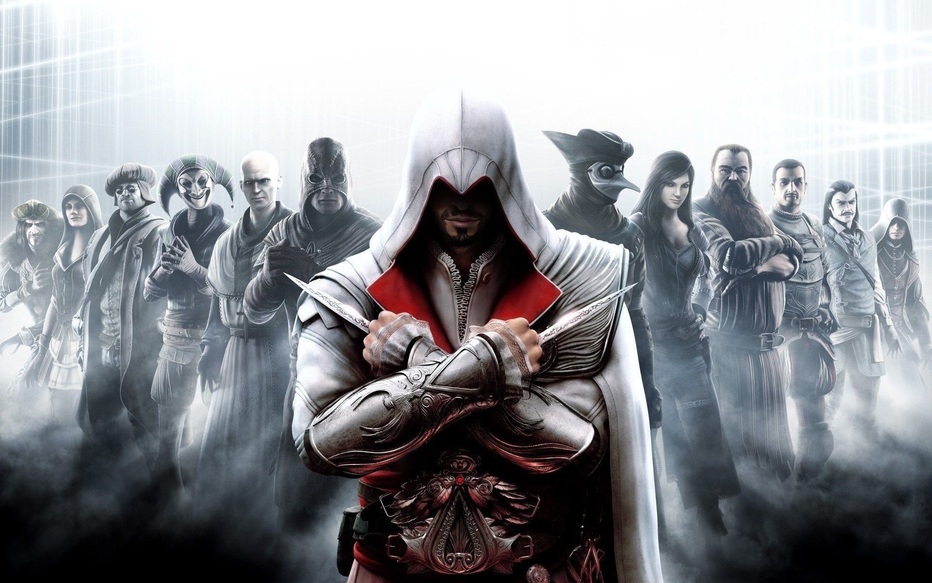 assassins creed brotherhood all characters game hd wallpaper