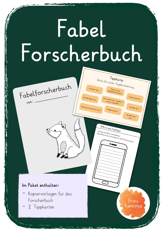 Fabel Forscherbuch   Fabeln individuell erforschen ...