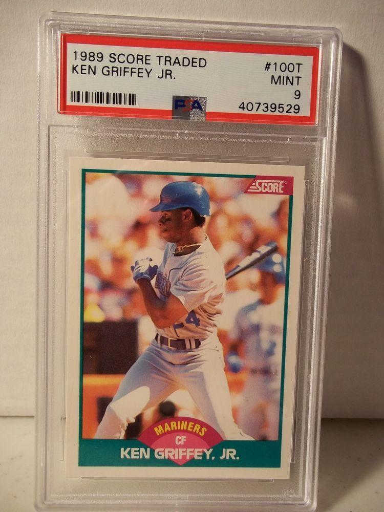 1989 Score Traded Ken Griffey Jr Rookie Psa Mint 9 Baseball
