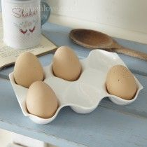 Egg Tray - White Ceramic