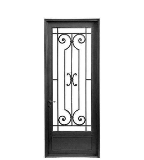 Puerta simple dise o d rejas pinterest rejas hierro for Diseno puertas hierro