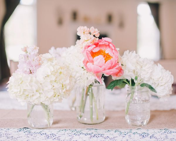 Stevenson Ridge Wedding By Rachel May Mason Jar Centerpieces Jar