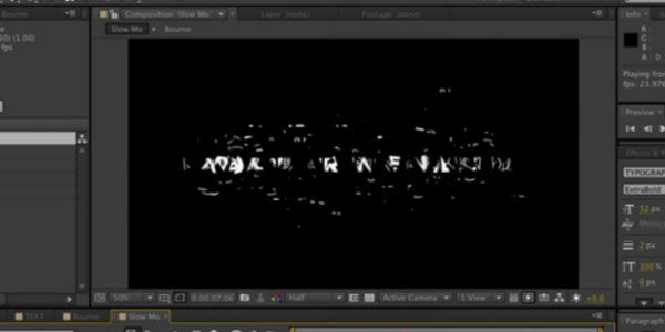 Creating The Bourne Legacy Titles in After Effects