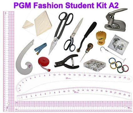 Pgm Fashion Design Pattern Tools Set With Rulers French Curve Notcher Awl Tracing W Vintage Dress Form Mannequin Vintage Dress Form Fashion Design Patterns