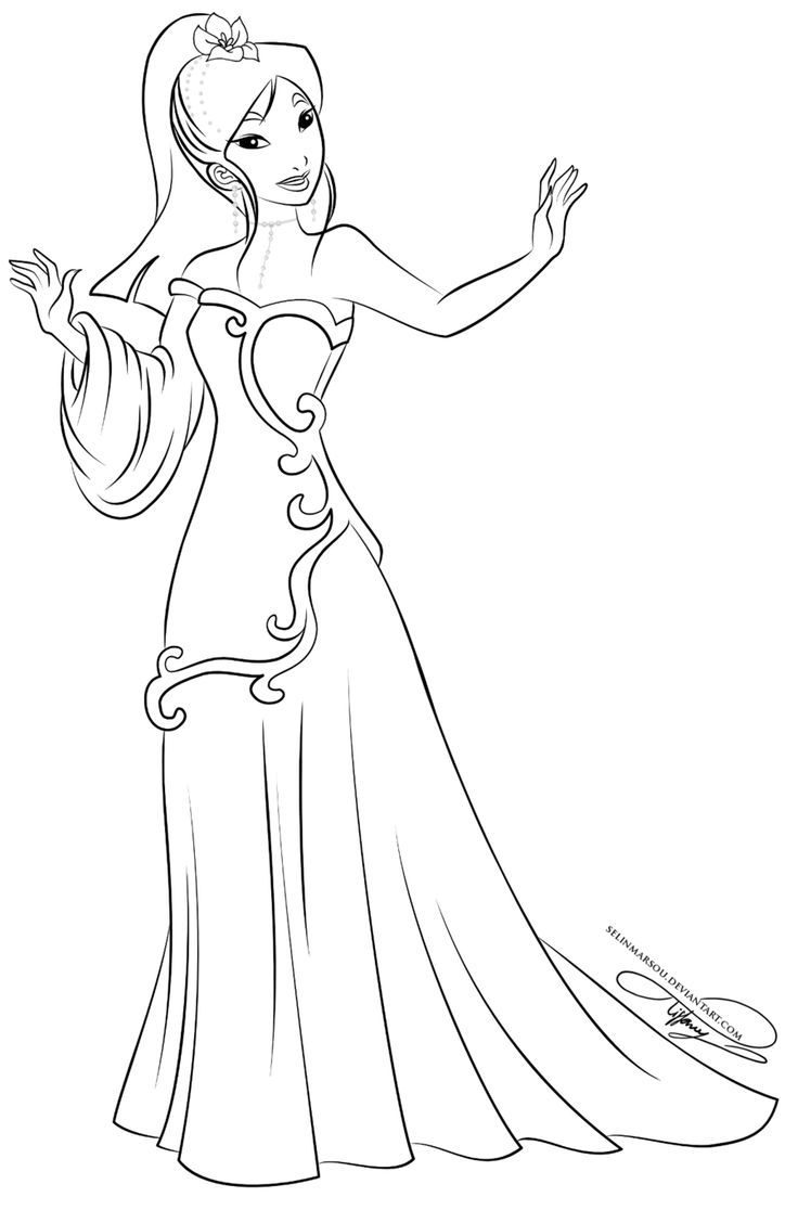 Pin by Ramona Schulz on coloriage mulan  Princess coloring pages