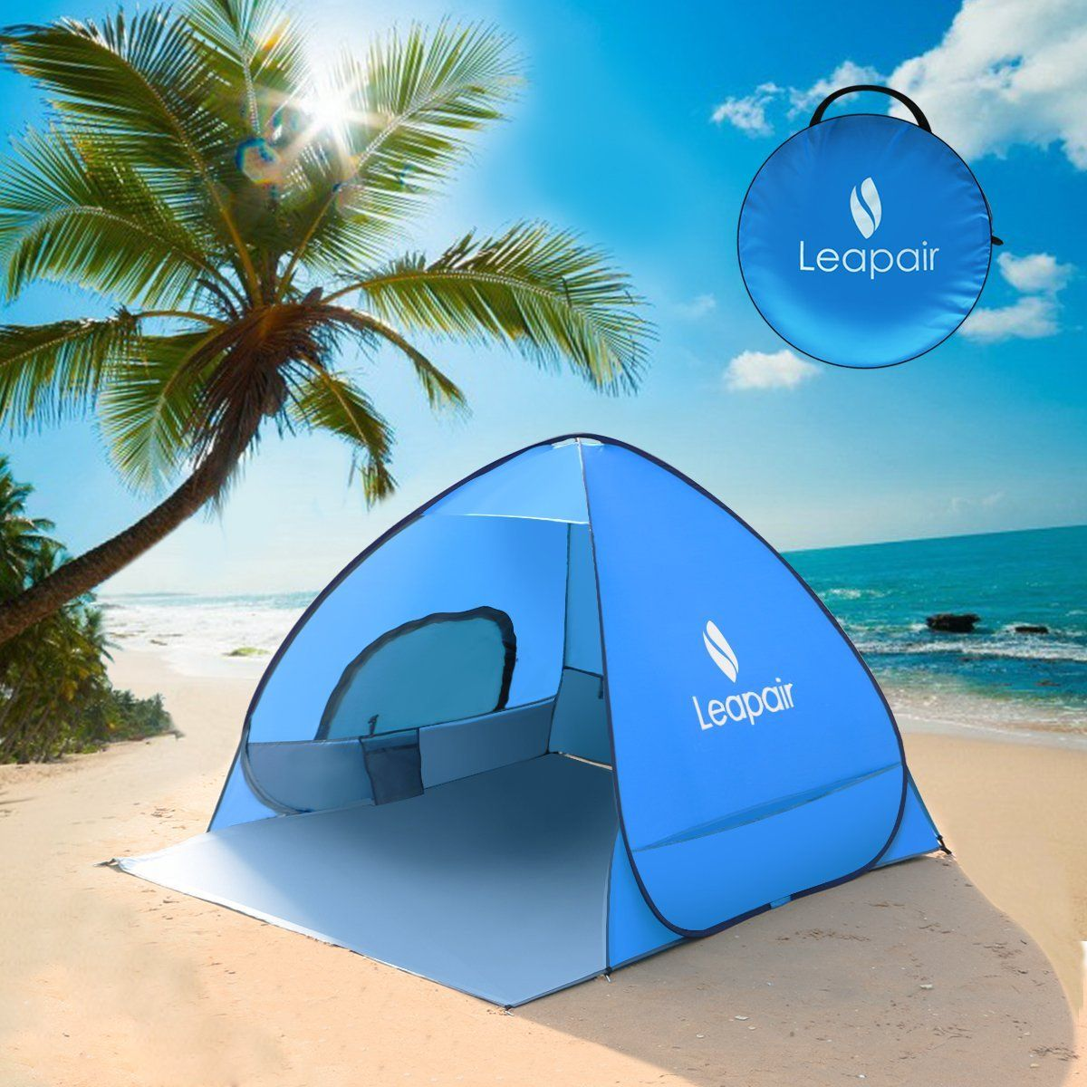 Leapair Sun Shelter Tent Instant Easy Pop Up Beach Umbrella Sport Automatic Portable Outdoors Quick Fishing Kids Tents Check Out This Great