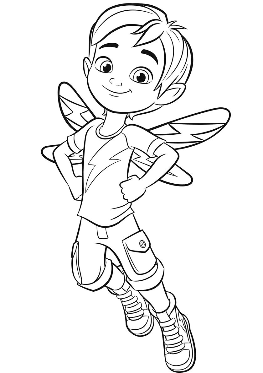 Jasper High Quality Free Coloring From The Category Butterbean S Cafe More Printable Pictures On Cartoon Coloring Pages Fairy Coloring Pages Coloring Pages